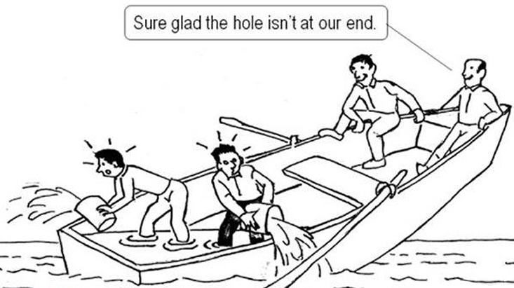 Holes in our mentality are sinking us.