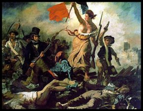Eugene Delacroix 's  Freedom guiding the people