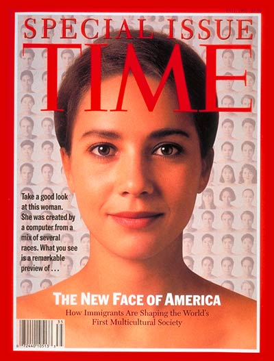 "On Thursday, Dec. 02, 1993 Time magazine published its weekly edition entitled The New Face of America which highlighted a New World Order - a vision of ""a wide-open frontier of polyglot terms and post national trends."""