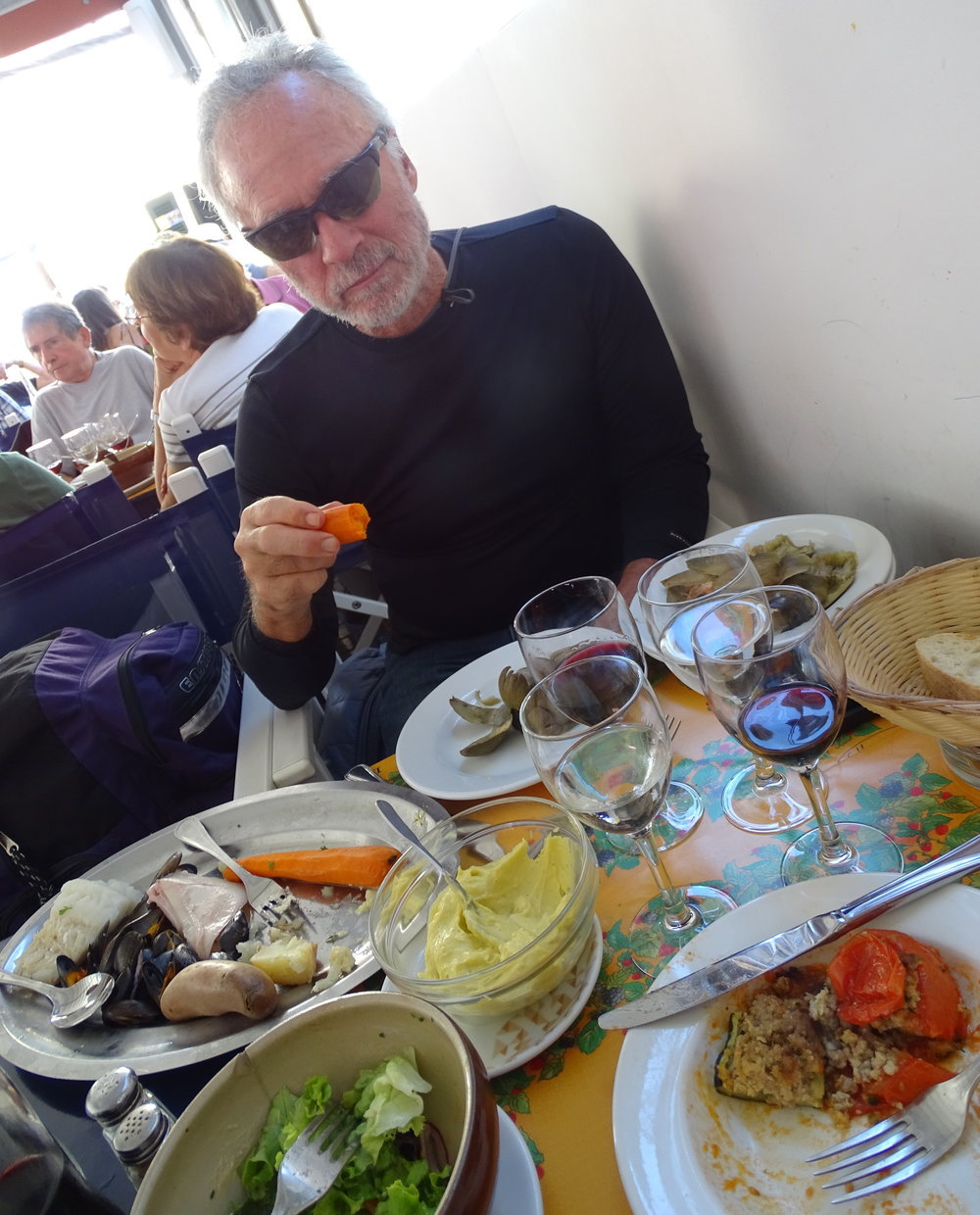 Gorging myself with delectables in St. Tropez