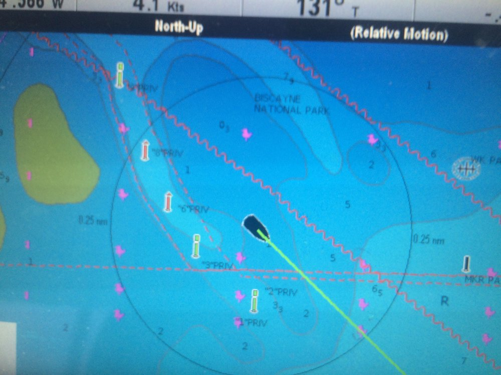 My GPS showed me how i had drifted out of the channel and ended up on a reef.