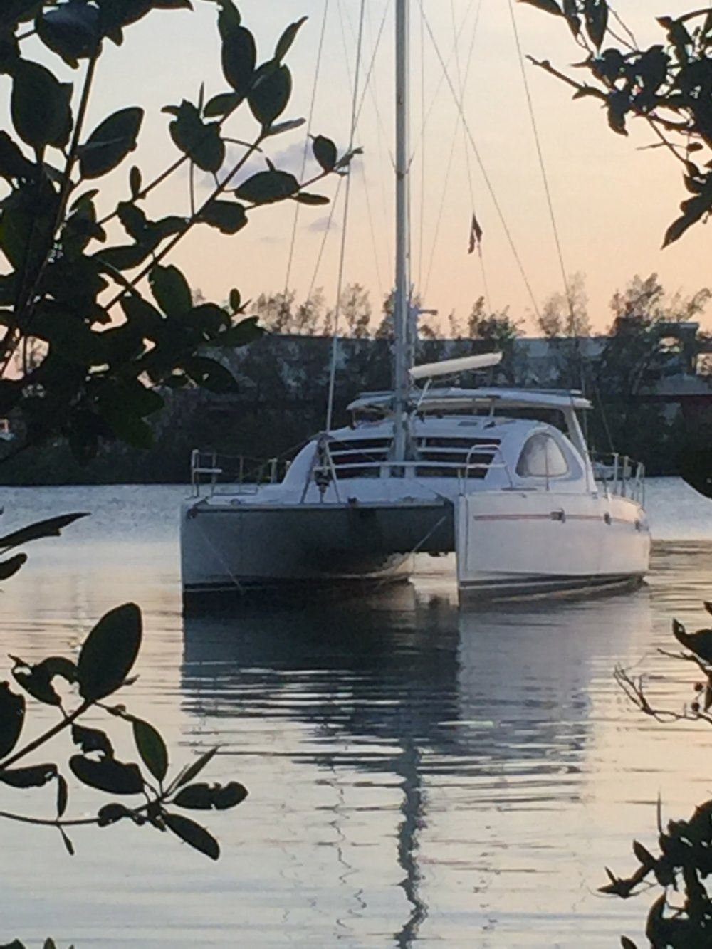 Pao took this shot of Mystique two days after Irma swept through Miami. Her father's 23' sloop disappeared in the storm and no one has seen a trace of her since.  She was anchored maybe a 100 yards away from Mystique in the middle of the anchorage.