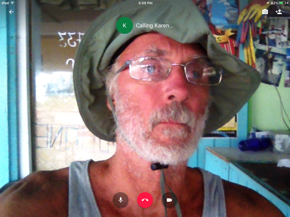 The best I could do to show up was to video-chat with friends.