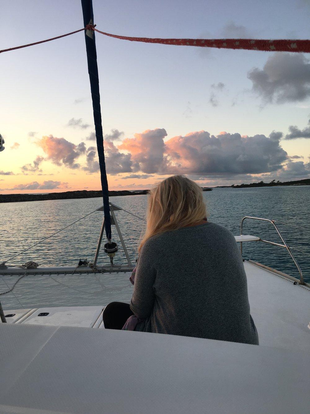 A meditative Mystique moment near Spirit Cay.