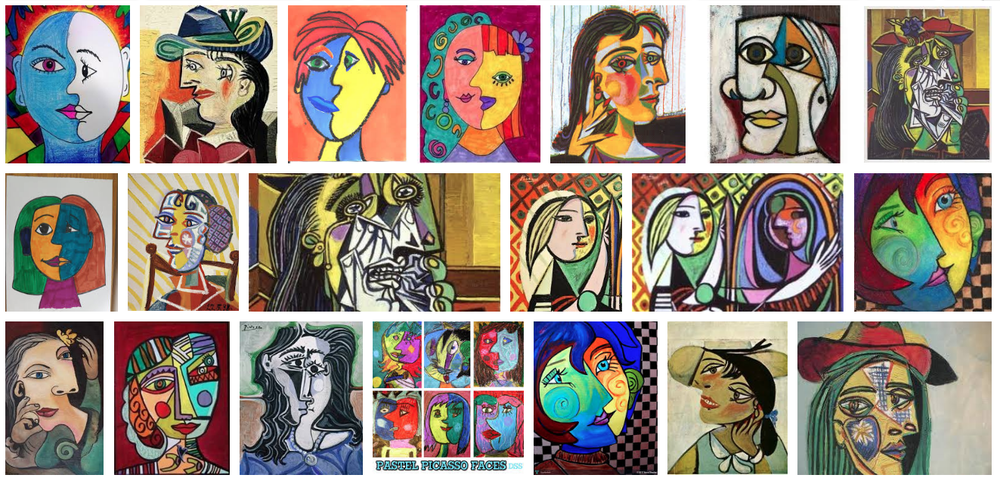 The faces we saw were sky art. Though how can anyone fairly compare, Picasso's facial brilliance seemed oddly similar to Nature's faces near Spirit Cay.