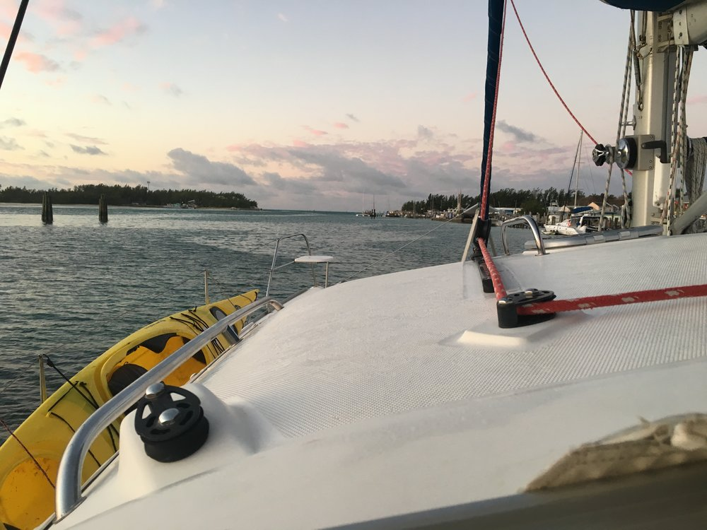 Running aground in Bimini Harbor