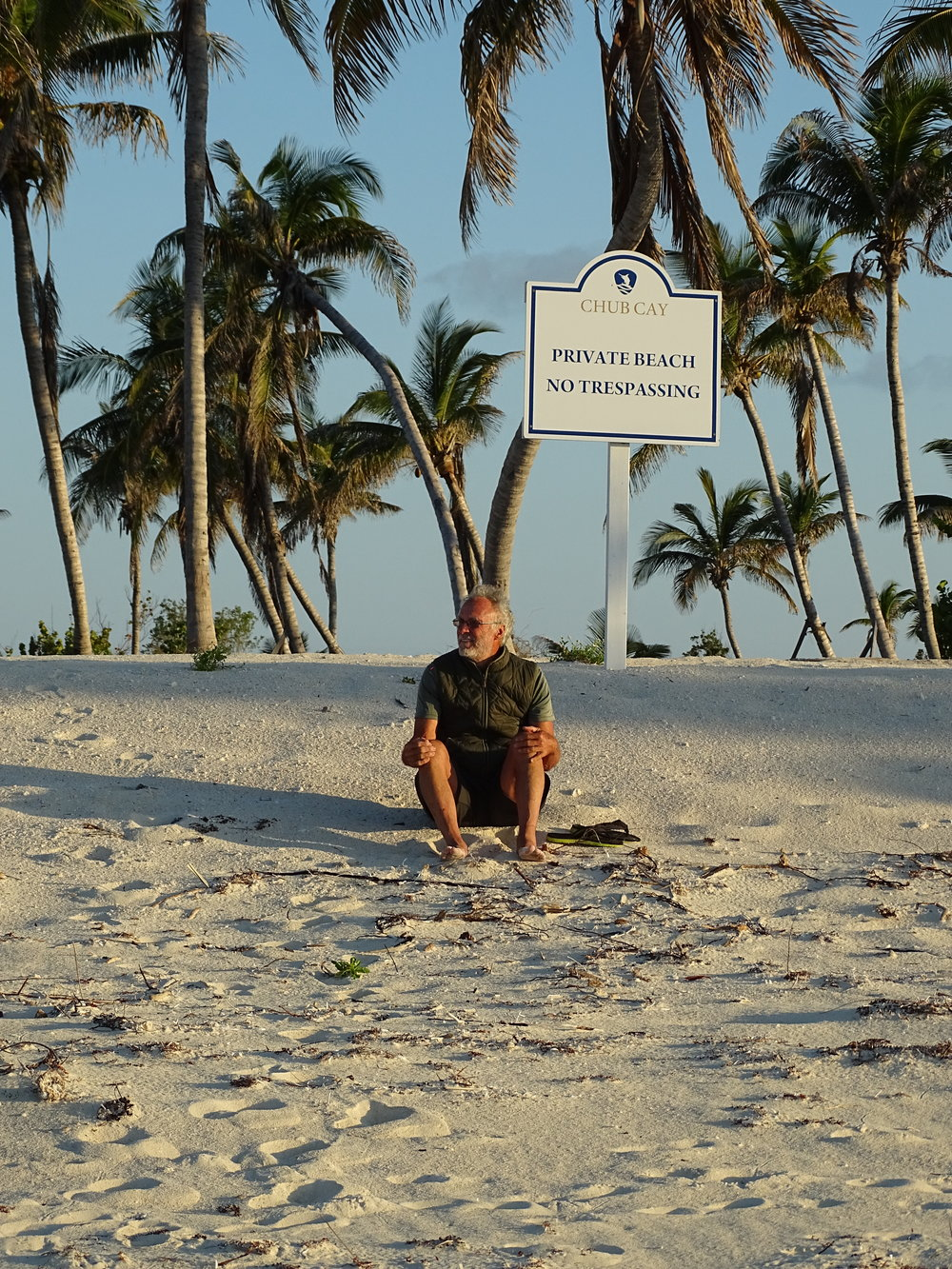 Chub Cay Beach sign