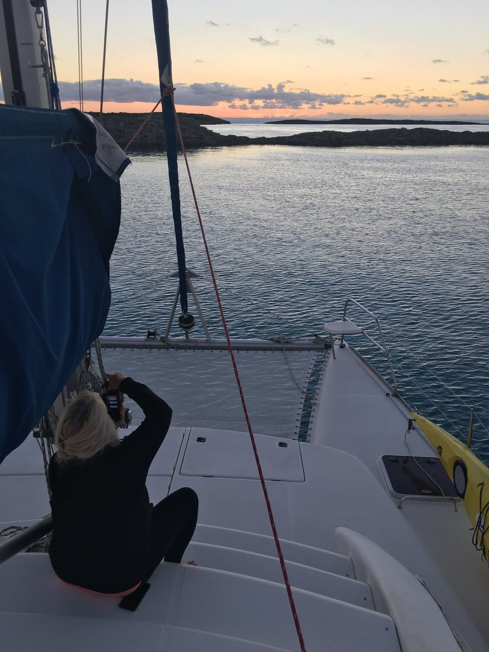 Lainie captures sunrise at Spirit Cay