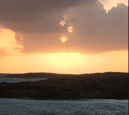 Our second day's sunrise near Spirit Cay in the Exumas