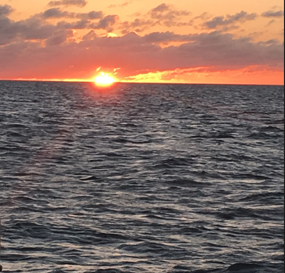 One of the any facial sunsets we witnessed while sailing in the Exumas in 2018.