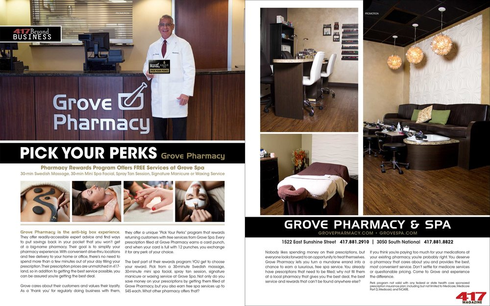 Grove Spa Pick Your Perks