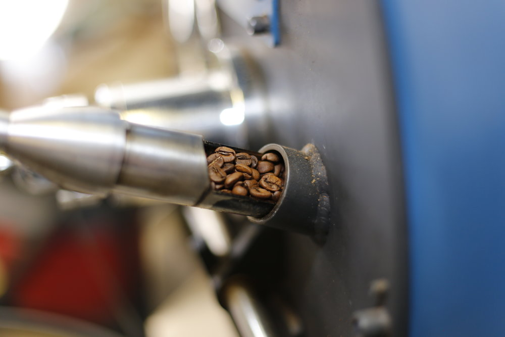 Bigger isn't always better... - Our coffee is roasted in small batches, ensuring quality and care in every cup.