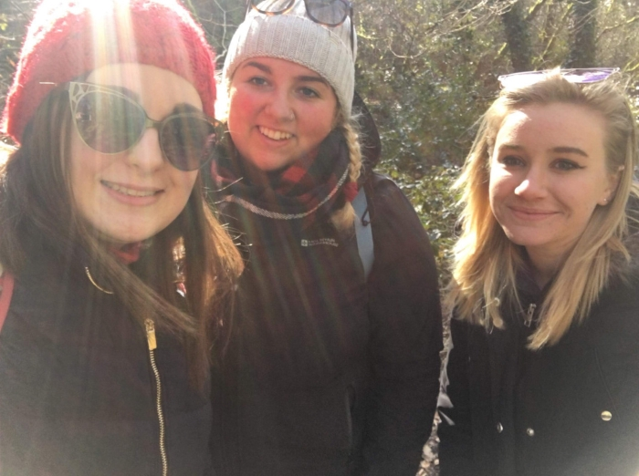 Anna, Alex and Amy, the 3rd students founders and leaders of  The Pompeii Project