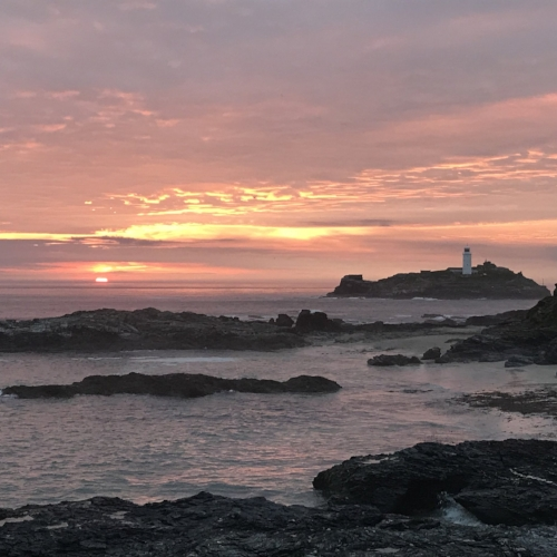 View of the lighthouse from Godrevy