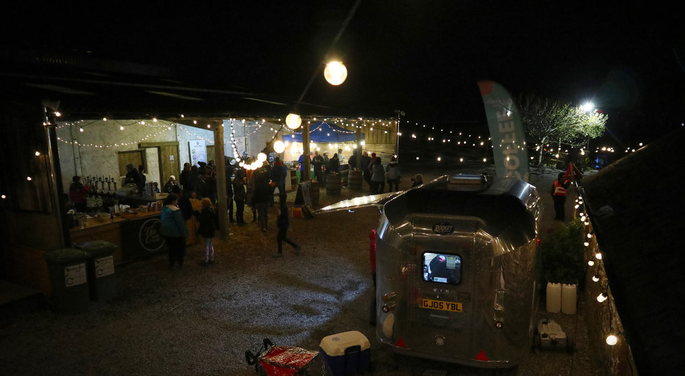 Twinkling lights at the South West Outdoors Festival