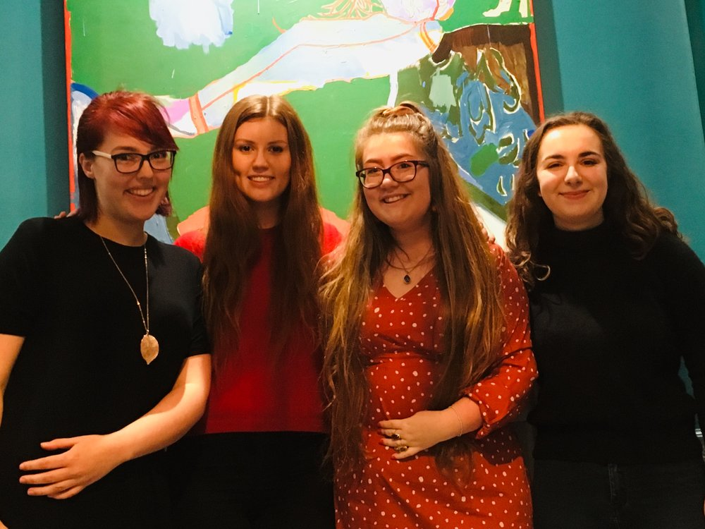 From left to right: Josie Heaton, Amber Patterson, Honeysuckle Troubridge and Gabby Willcocks (founders of the project).