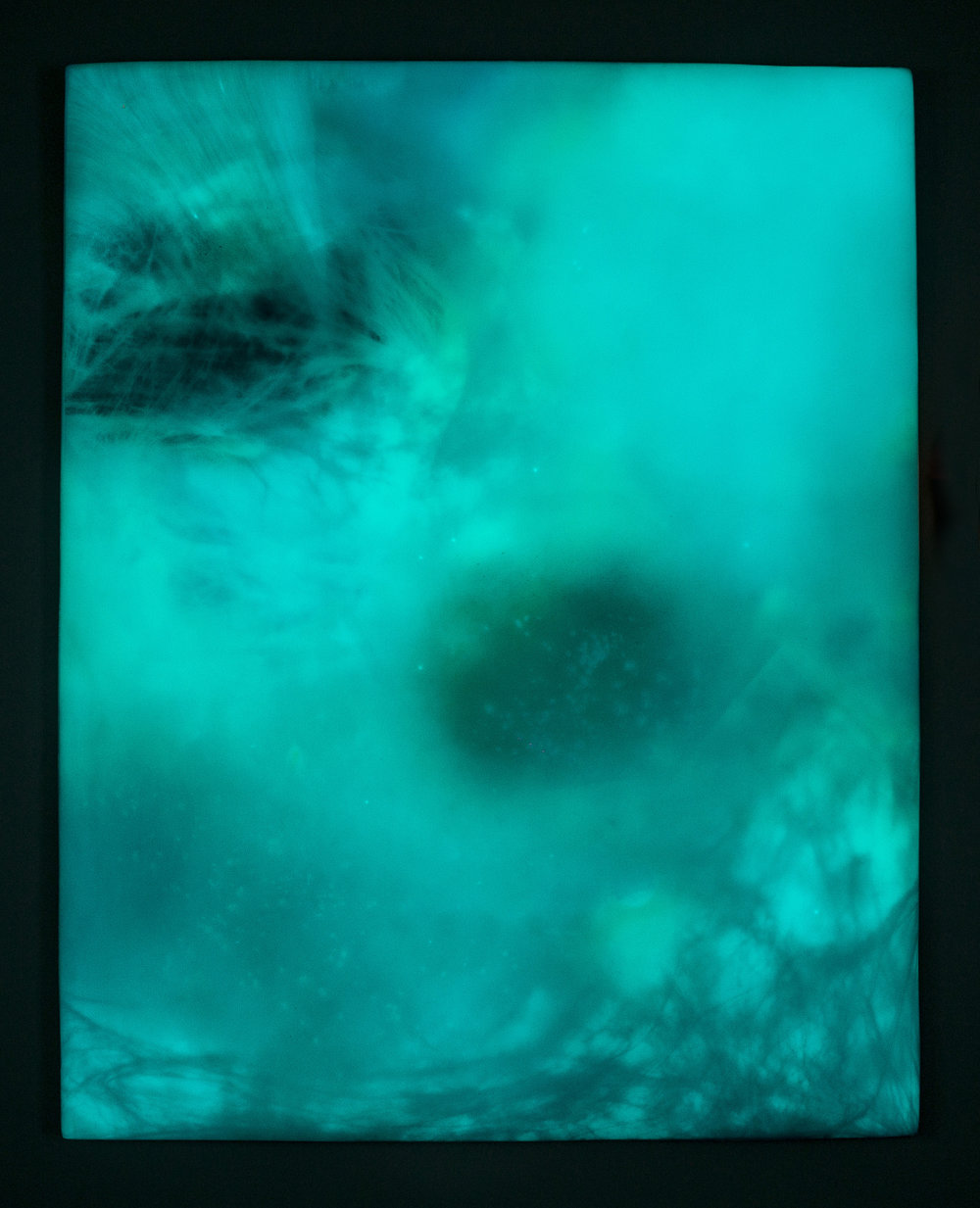 "DUNE KYSER   Phosphorescent pigment, high density foam, acrylic paint, UV  protected epoxy, vanish  48"" x 60"" 2016 Image Credit: Jamahl Richardson"