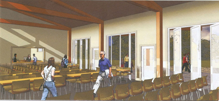The large multipurpose room will host many functions and permit accommodation of large groups of visiting school children since the room can be sub-divided into 3 areas holding 50 people each.