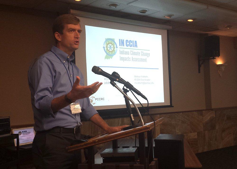 Purdue University climate scientist Jeffrey Dukes