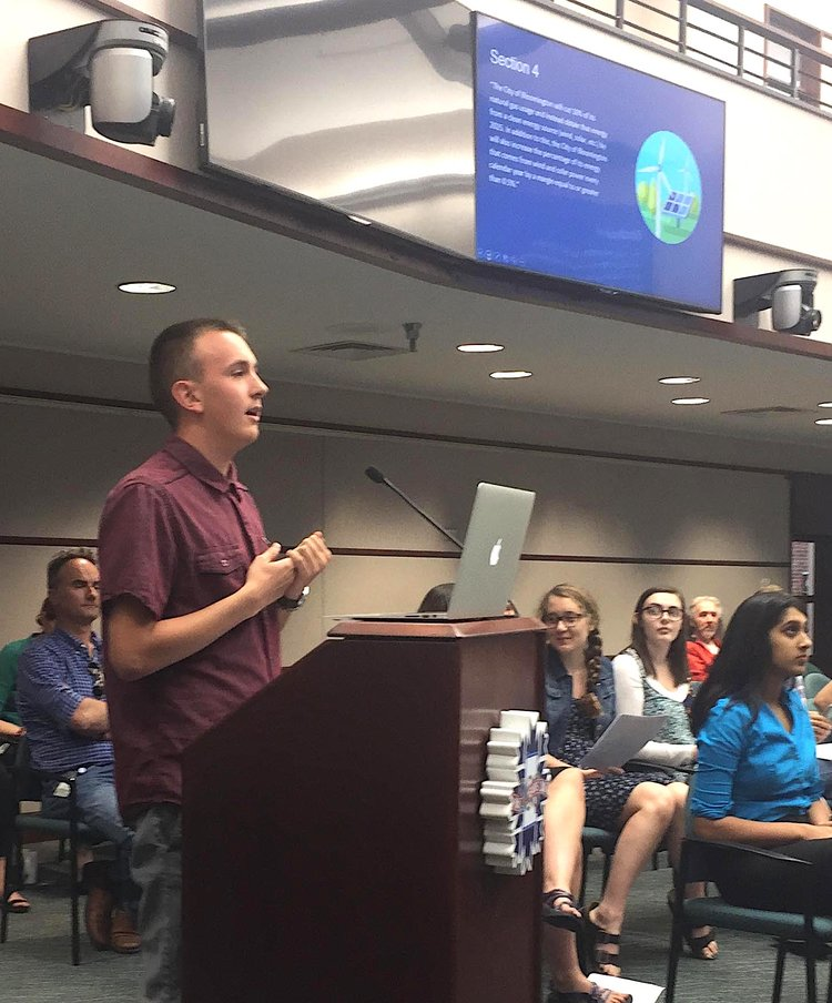 Blog author, Jarrett, testifying on May 31.