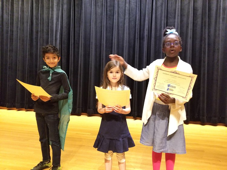Winners in the youngest category: Ayush, Molly and Nya