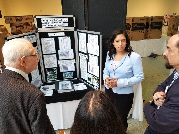Amanda Wilson presents to the Community Impact judging panel.