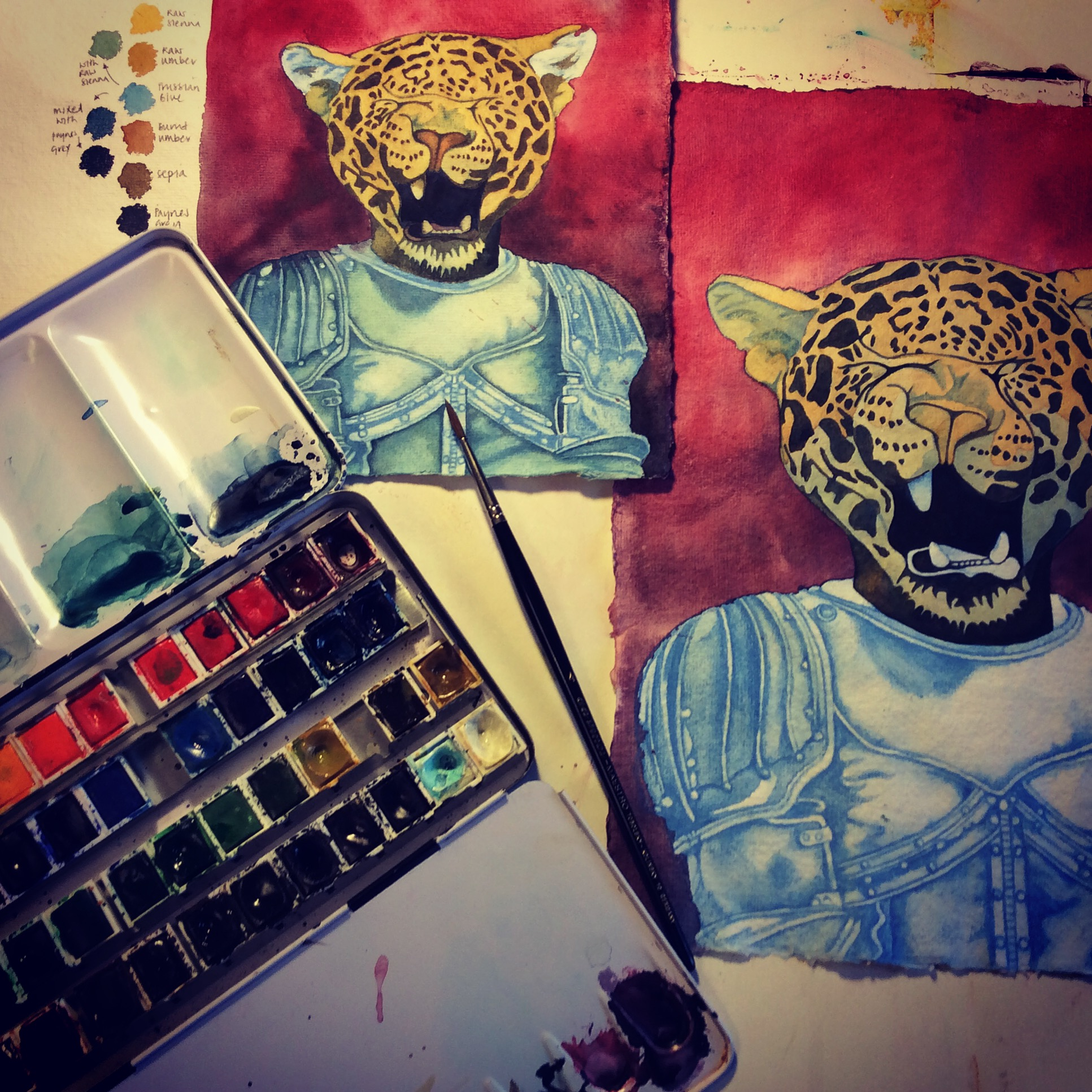 Work in Progress, Mixed Media,  Animal in Clothes