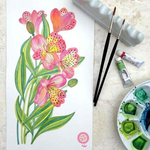 Flowers.Alstromeria