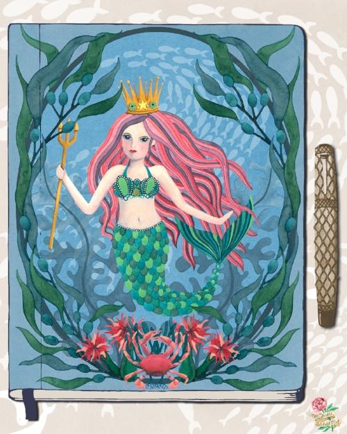 Mermaid Watercolour Painting Journal Susie Batsford