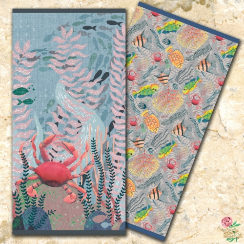 Tropical Fish Underwater Ocean Designs on Beach Towels by Susie Batsford