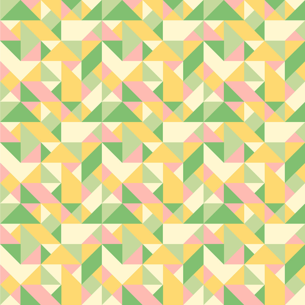 Textile Design Geometric Triangles