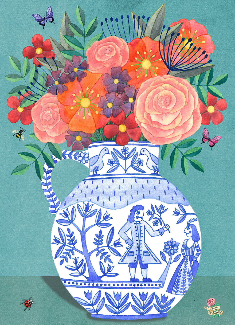 Flowers.In.Blue.And.White.Vase.2.jpg