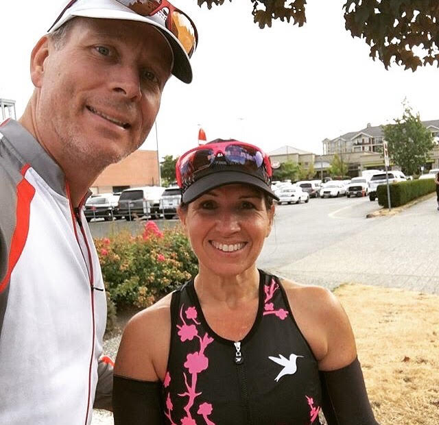 The always inspiring Karin and Andrew Jackson after one of their training rides.