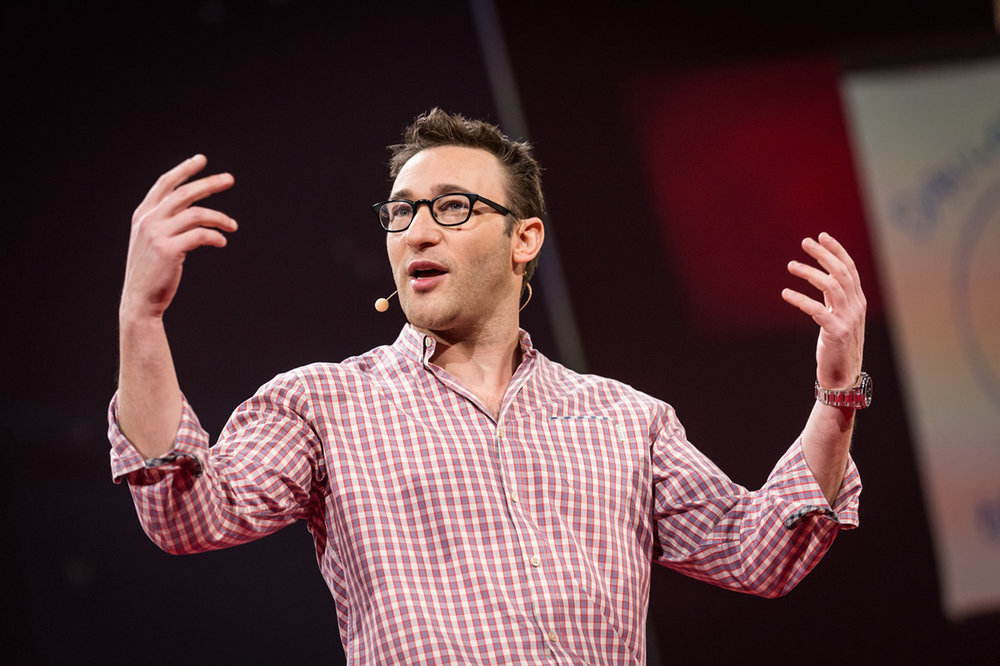 """We become leaders the day we decide to help people grow, and not focus on numbers."" Simon Sinek  Simon Sinek is British-American author, motivational speaker and marketing consulting. He is known for his vision of creating leaders, and his book Start with Why was featured on the New York Times best sellers list."
