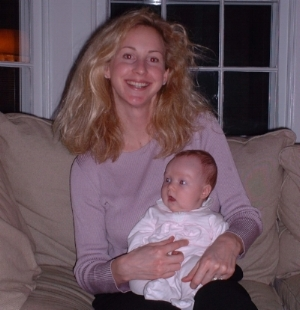 With baby Lila, St Louis 2001.