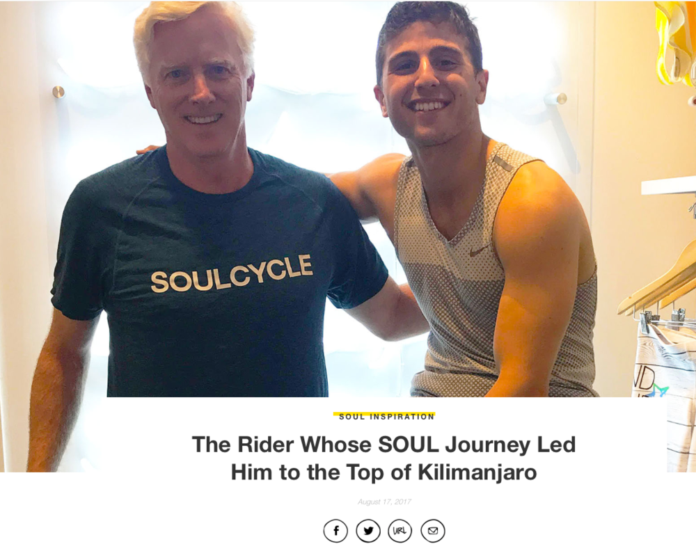 David Wells, left, with Nicky B, his Soul-Cycle instructor in Westport, CT.