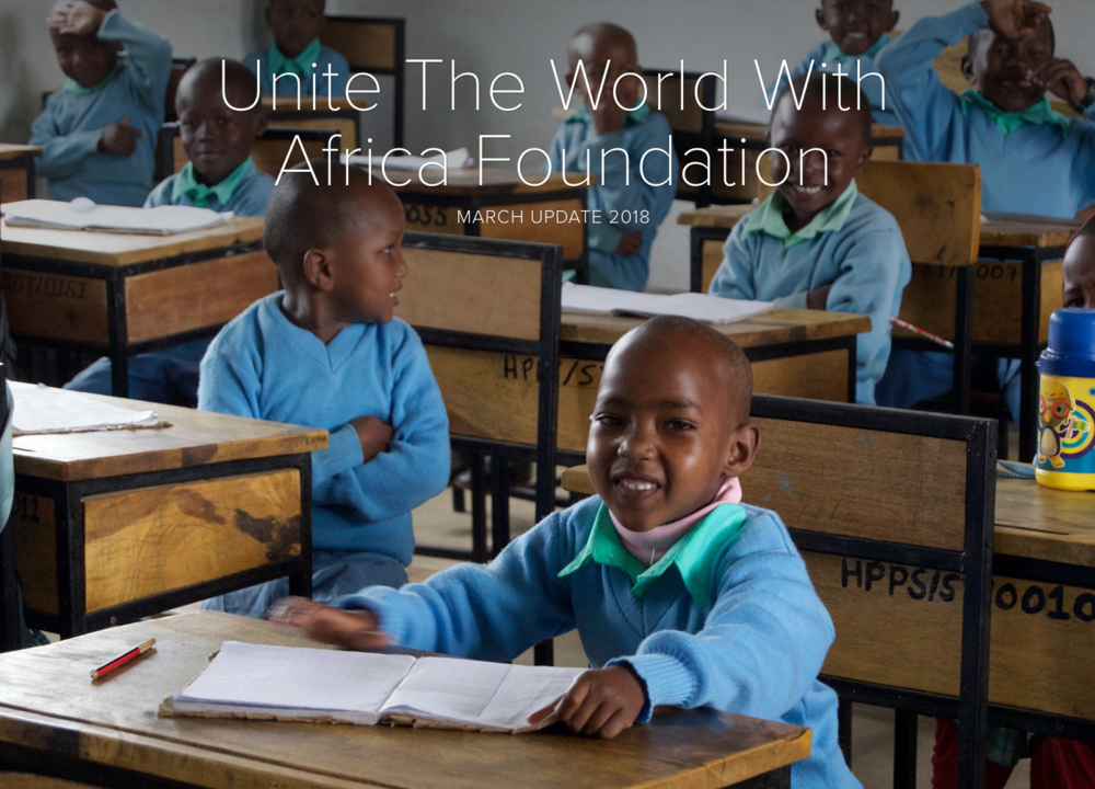 Read about what's happening at The Heaven School in Tanzania and more news from Unite!