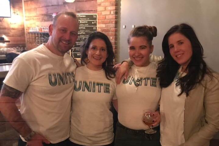 Sydera (2nd from right) with friends and family at her fundraising event in Indiana, February 17, 2019.