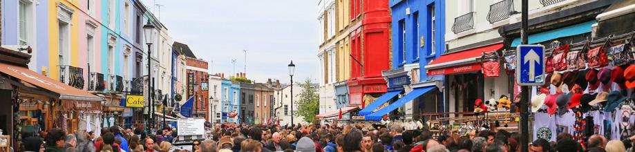 Portobello Road Market on a Saturday
