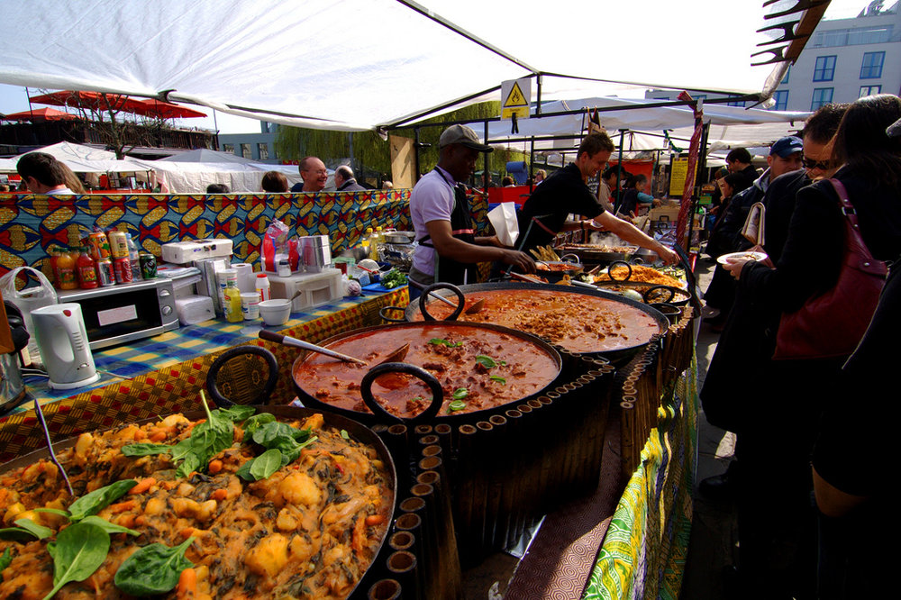 Food at the Camden Market