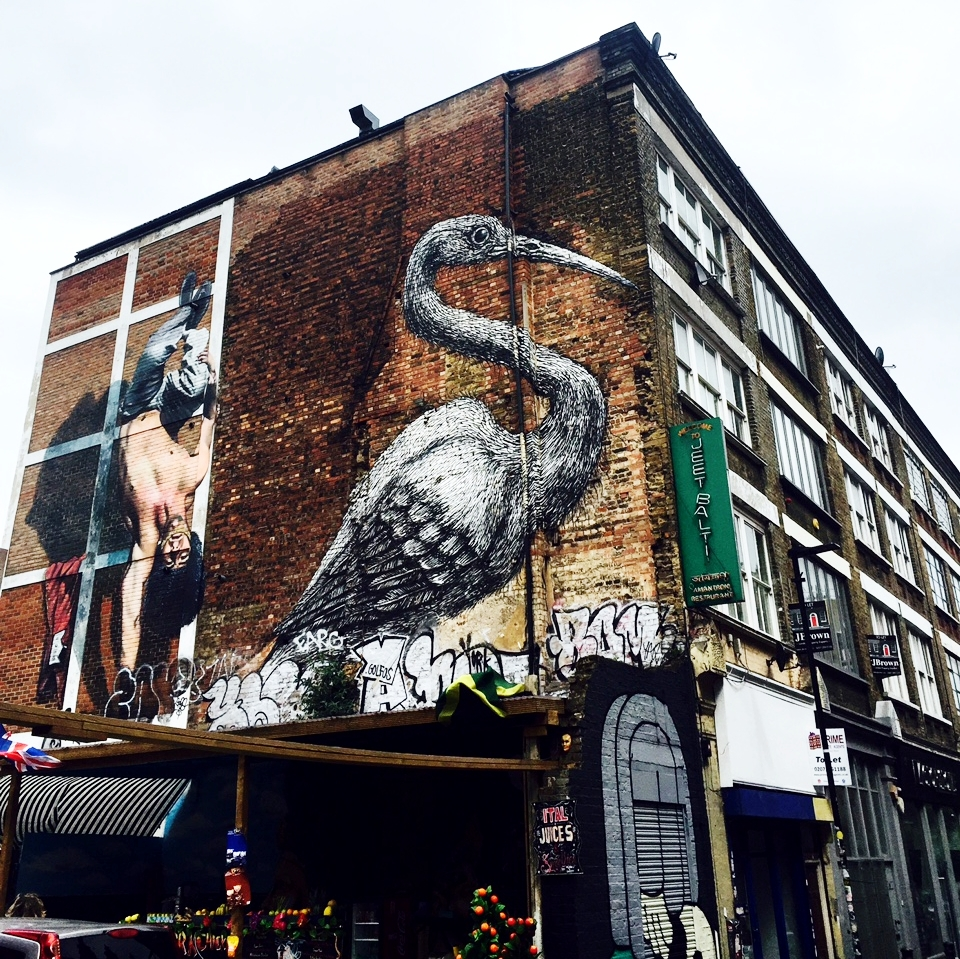 The Hanbury Street Crane Street Art