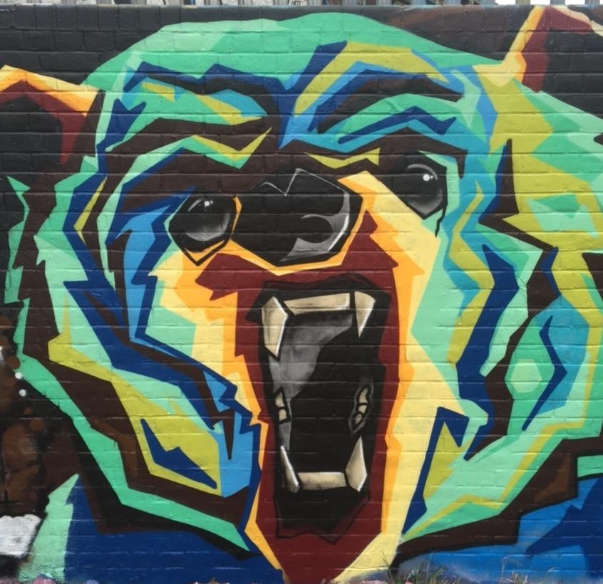 Street Art Bear