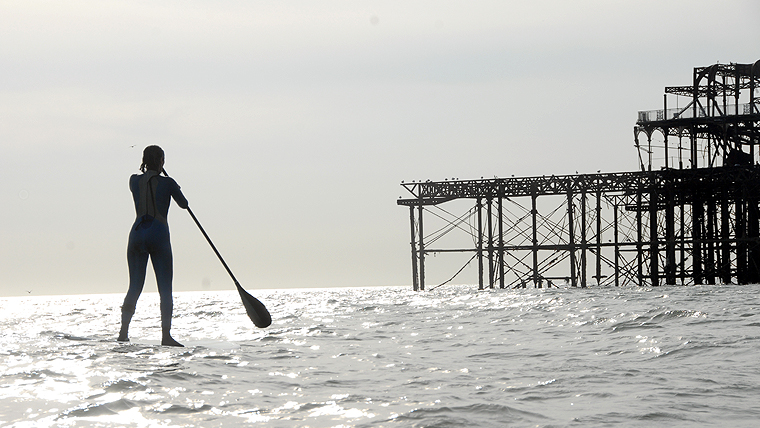 Paddleboarding doesn't only happen in California. Try it on Brighton Beach today.     ££ | Brighton Watersports | 185 Kings Road Arches, Brighton Seafront BN1 1NB |  Website