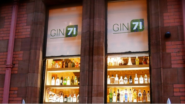 Love Gin? Well if you haven't heard of Gin 71 you are in for a treat.     ££ | Gin 71 | 71 Renfield St, Glasgow G2 1LP |  Website