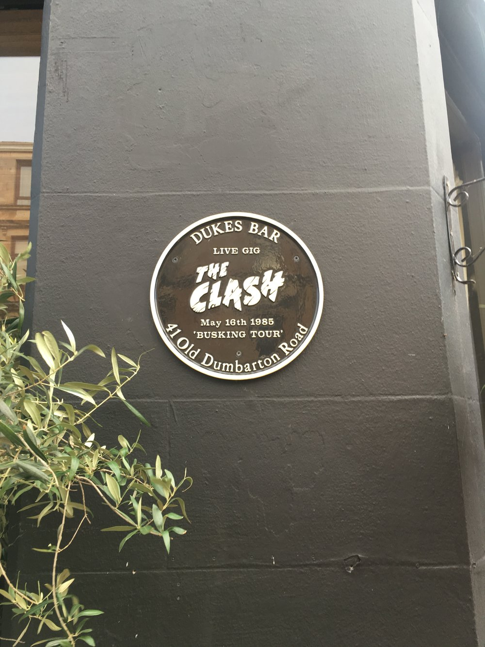 the clash plaque finnieston glasgow.JPG