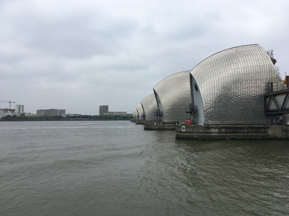 The Thames Barrier in Greenwich on the Thames Path