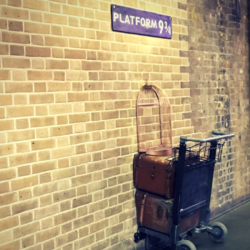 Platform 9 3/4 at Kings Cross Station
