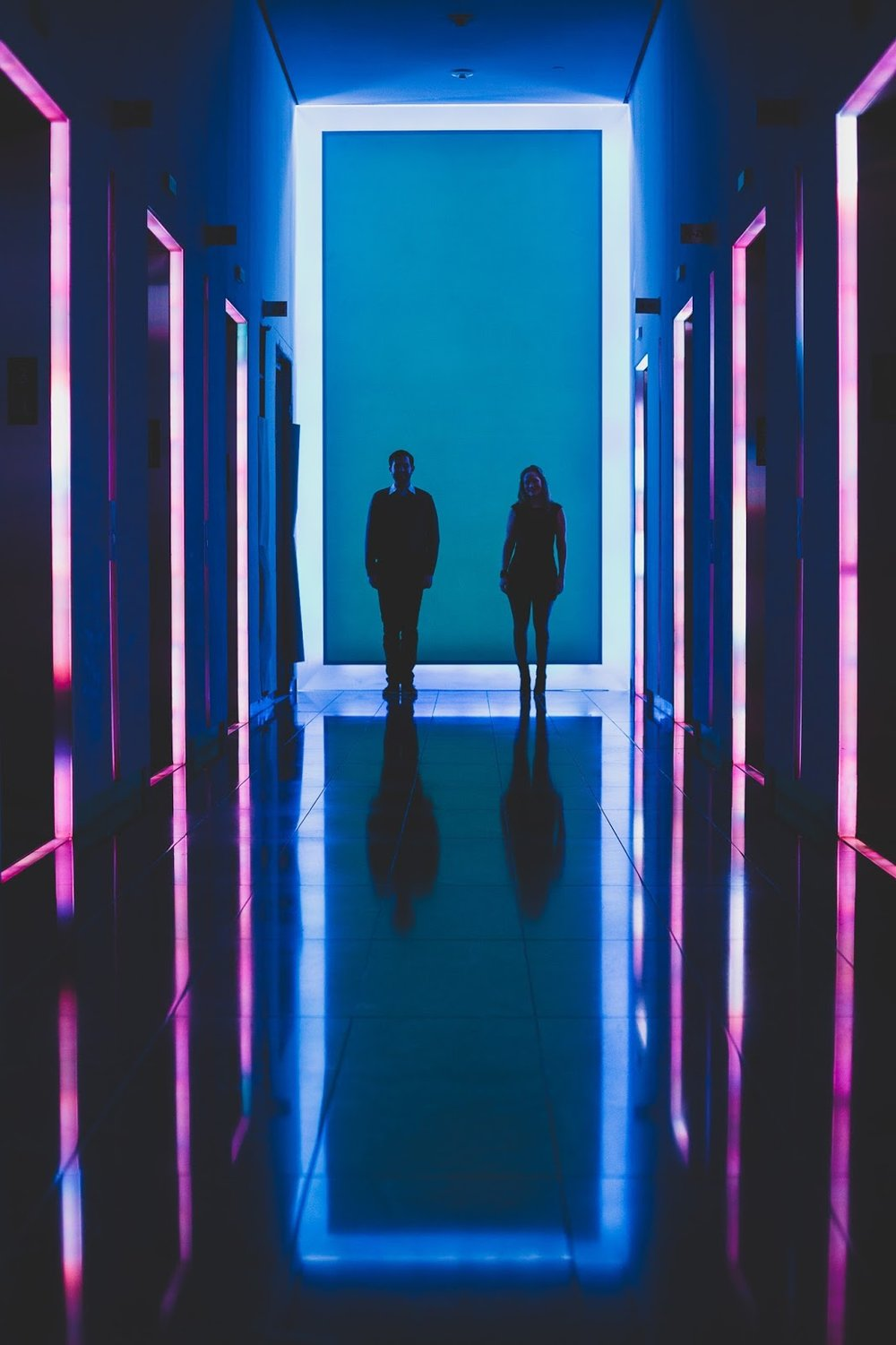 NYC engagement photos in front of art installation by James Turrell | blog.cassiecastellaw.com