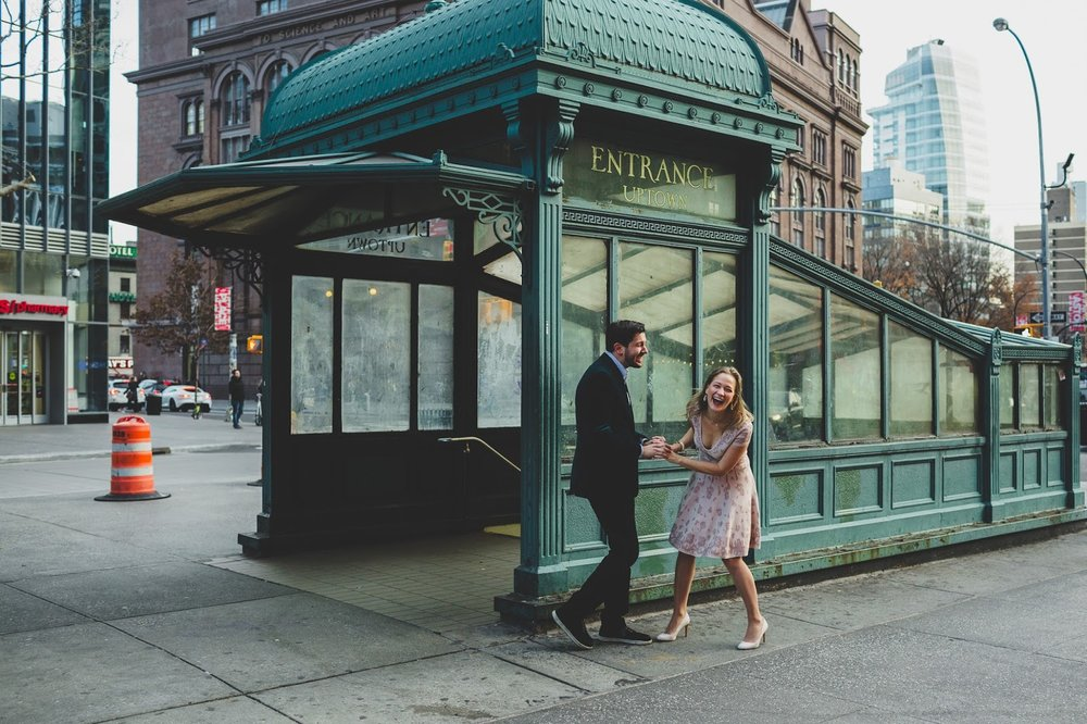 Engagement shoot at Astor Place subway station | Documentary wedding photography - blog.cassiecastellaw.com