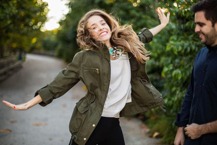 Jumping for joy after surprise proposal Brooklyn Bridge Park - www.cassiecastellaw.com